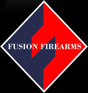 1911 Full Size Grips, G-10 White / Black, Ranger Cut w/ Fusion Logo, Beveled Bottom