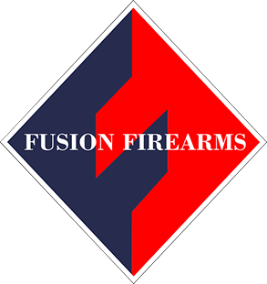 1911 Mainspring Housing, Government, Chevron Design with Fusion Logo, Stainless Steel Polished